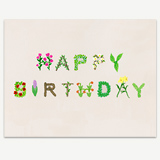 Happy Birthday Natural Greeting Card