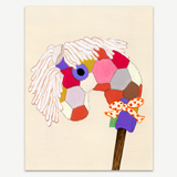 Patchwork Stick Pony Greeting Card