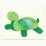 Patchwork Turtle Greeting Card