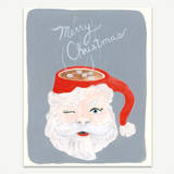 Santa Mug Greeting Card