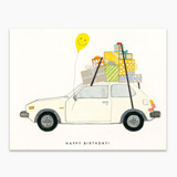 Happy Birthday Hatchback Greeting Card