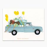 Happy Birthday Pickup With Pony Greeting Card