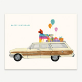 Party on the Way Greeting Card