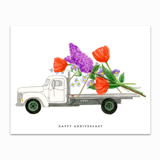 Anniversary Truck Greeting Card
