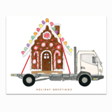 Gingerbread Truck Greeting Card