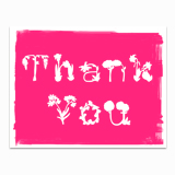 Thank you in Pink Greeting Card