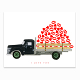 I Love You Truck Greeting Card