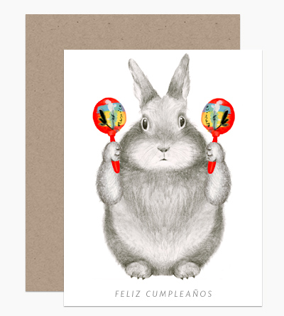 Graphite Bunny with Maracas