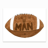 Love U Man Football Greeting Card