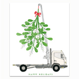 Mistletoe Truck Greeting Card