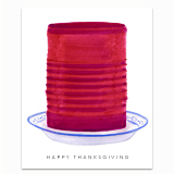 Thanksgiving Cranberry Greeting Card