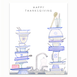 Thanksgiving Dishes Greeting Card