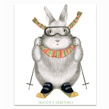 Ski Bunny Greeting Card