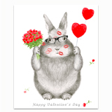 Love Bunny Greeting Card