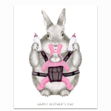 Mom Bunny Greeting Card