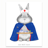 Nurse Bunny Greeting Card