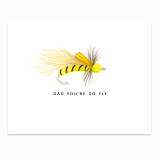 Dad Fly Greeting Card