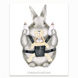 New Parent Bunny Greeting Card