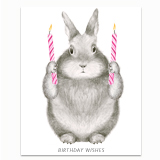 Birthday Wishes Bunny Greeting Card
