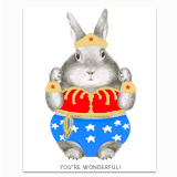 Wonder Bunny Greeting Card