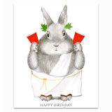 Party Animal Bunny Greeting Card