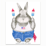 4th of July Bunny Greeting Card