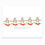 Rockette Bunnies Greeting Card