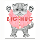 Big Hug Kitten Greeting Card