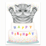 Kitten Cake Greeting Card
