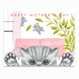 Naughty Kittens Greeting Card