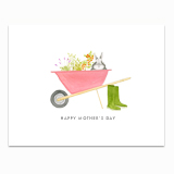 Bunny in a Wheelbarrow Greeting Card