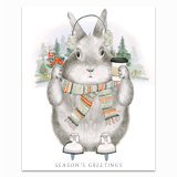 Ice Skating Bunny Greeting Card