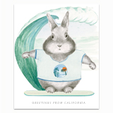 California Bunny Greeting Card