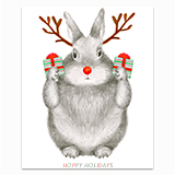 Reindeer Bunny Greeting Card