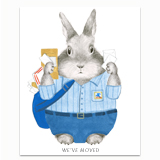 Postal Bunny Greeting Card