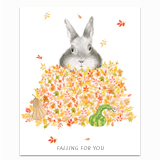 Fall Bunny Greeting Card