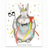 New Year's Bunny Greeting Card