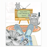 Naughty Kittens Dad Greeting Card
