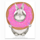 Bunny Donut Greeting Card