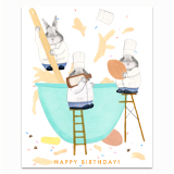 Bunny Cooks Greeting Card