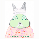 Spa Bunny Greeting Card