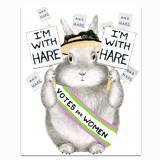 I'm with Hare Greeting Card