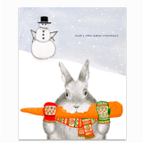 Bunny Stealing Carrot Greeting Card
