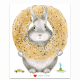 I Heart New York Bunny Greeting Card