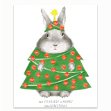 Bunny in Tree Costume Greeting Card