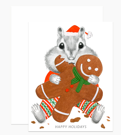 Chipmunk Eating Gingerbread