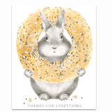 Everything Bagel Bunny Greeting Card