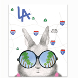 LA Freeways Bunny Greeting Card
