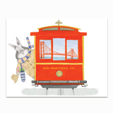 San Francisco Bunny Greeting Card