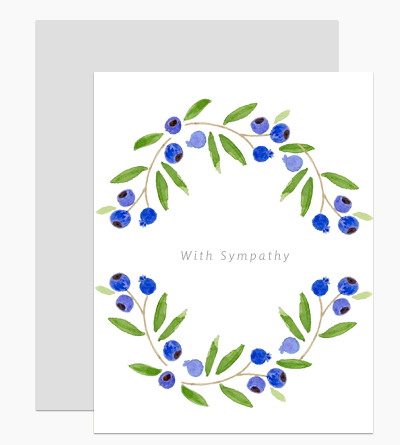 Blueberry Sympathy Wreath